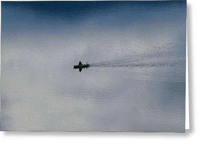 Boating Through The Clouds Greeting Card by Omaste Witkowski