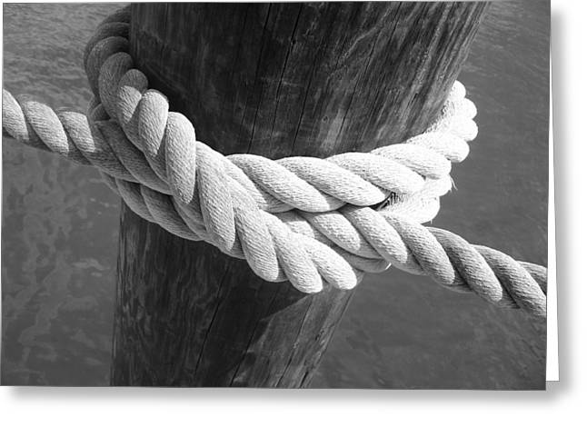 Greeting Card featuring the photograph Boatman's Knot by Ellen Tully