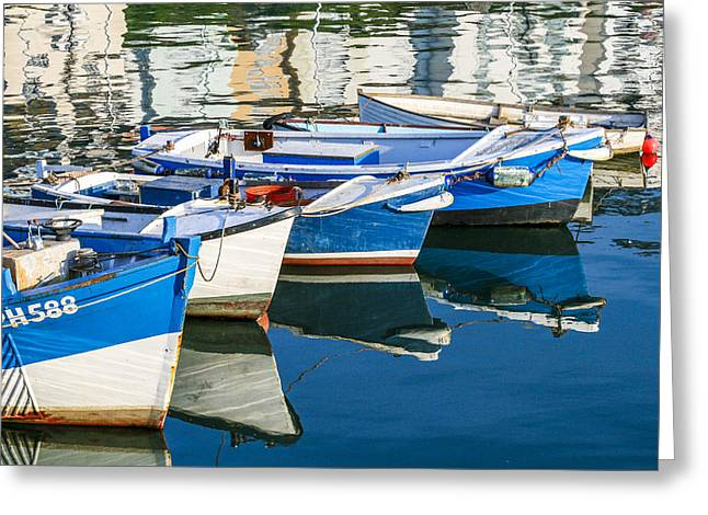 Boats At Anchor Greeting Card