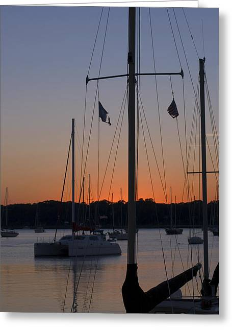 Greeting Card featuring the photograph Boats At Beaufort by Bob Pardue