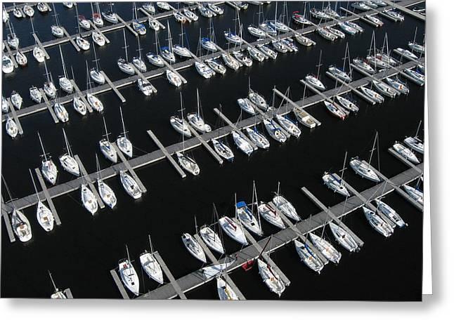 Boats At Nepean Sailing Club Greeting Card by Rob Huntley