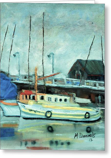 Boats At Provincetown Ma Greeting Card by Michael Daniels