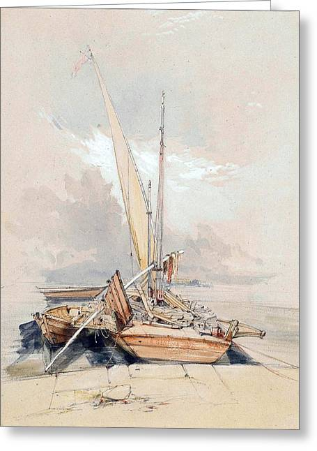 Boats At Quayside Lake Geneva Greeting Card by James Holland