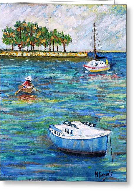 Boats At St Petersburg Greeting Card by Michael Daniels