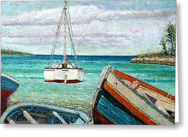 Boats By The Bay Greeting Card