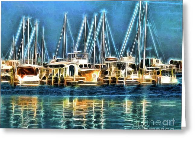 Boats Greeting Card by Clare VanderVeen