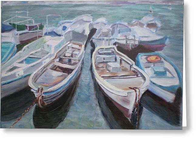 Boats Greeting Card by Elena Sokolova