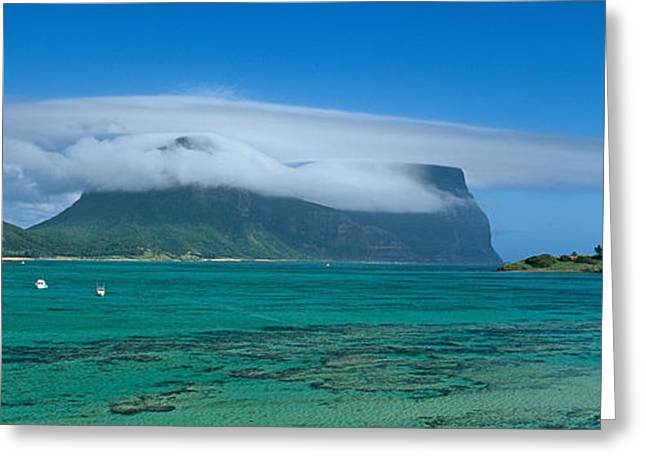 Boats Floating In The Sea, Lord Howe Greeting Card