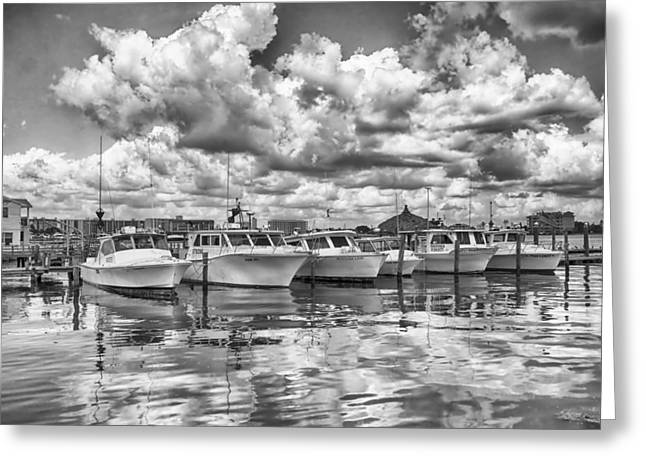 Greeting Card featuring the photograph Boats by Howard Salmon