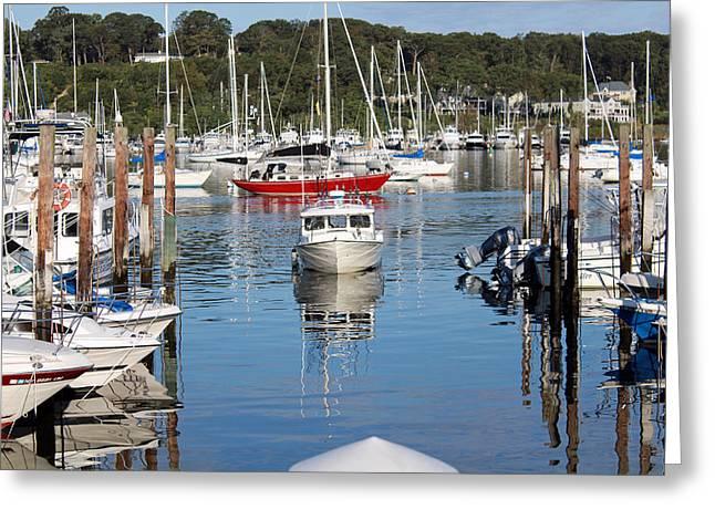 Boats In Huntington Harbor Greeting Card
