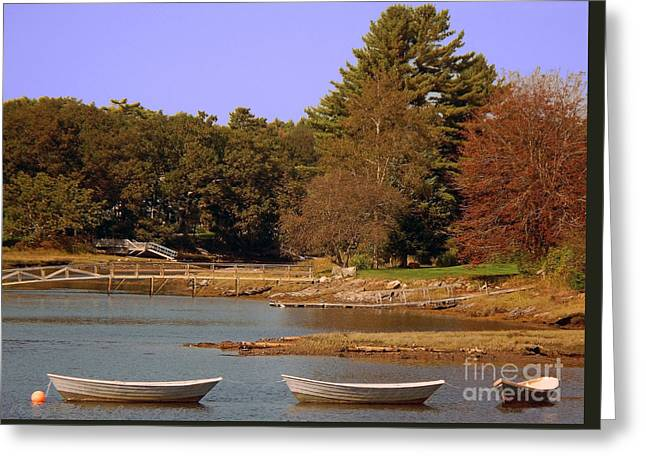 Greeting Card featuring the photograph Boats In Kennebunkport by Gena Weiser