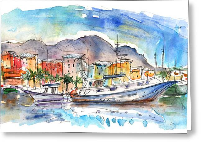 Boats In Porticello 04 Greeting Card by Miki De Goodaboom