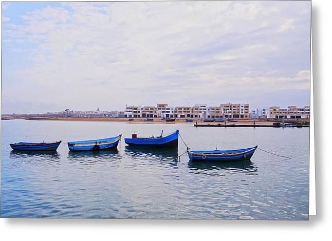 Boats In Rabat Greeting Card