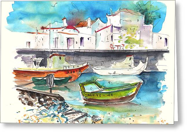 Boats In Tavira In Portugal 01 Greeting Card by Miki De Goodaboom