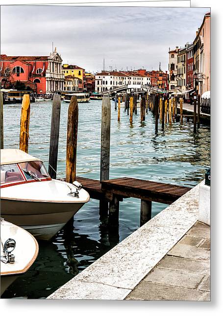 Boats In Venice Greeting Card