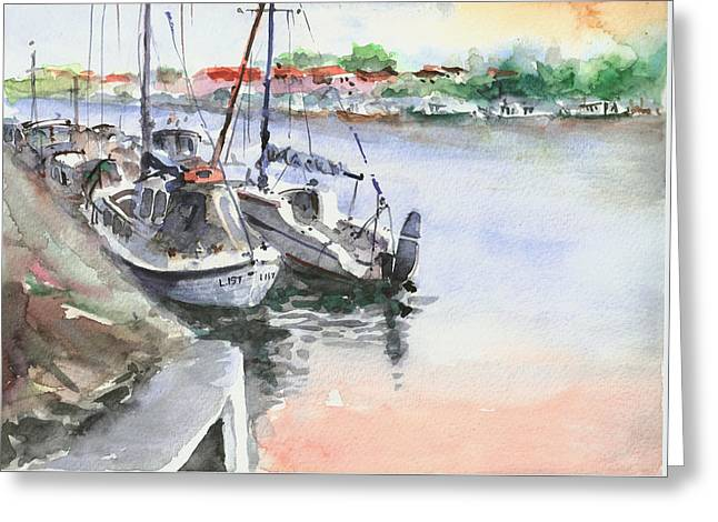 Boats Inshore Greeting Card