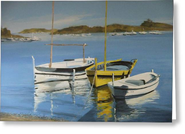 boats of Cadaques Greeting Card by Clive Holden
