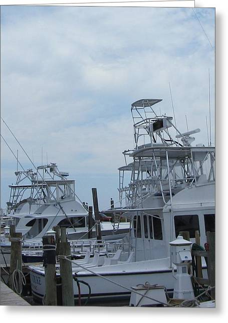 Greeting Card featuring the photograph Boats Of Oregon Inlet by Cathy Lindsey
