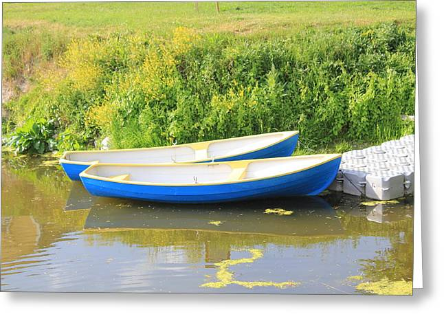 Boats On A Moat Greeting Card