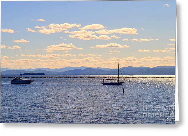 Boats On Lake Champlain Vermont Greeting Card