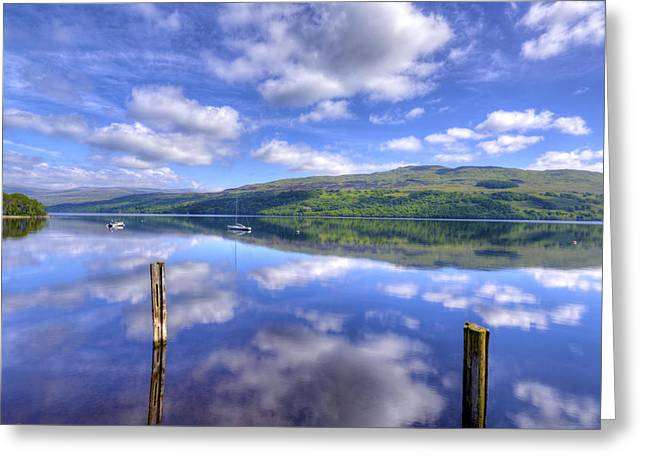 Boats On Loch Tay Greeting Card