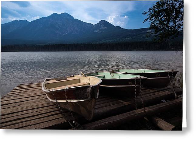 Boats On Pyramid Lake Greeting Card by Cale Best