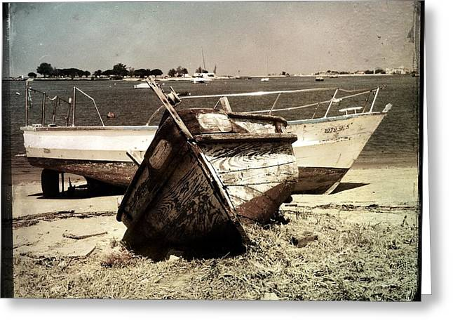 Boats On The Bay Greeting Card by Marco Oliveira