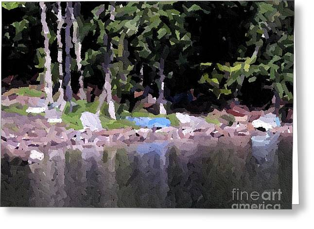 Boats On The Beach Greeting Card