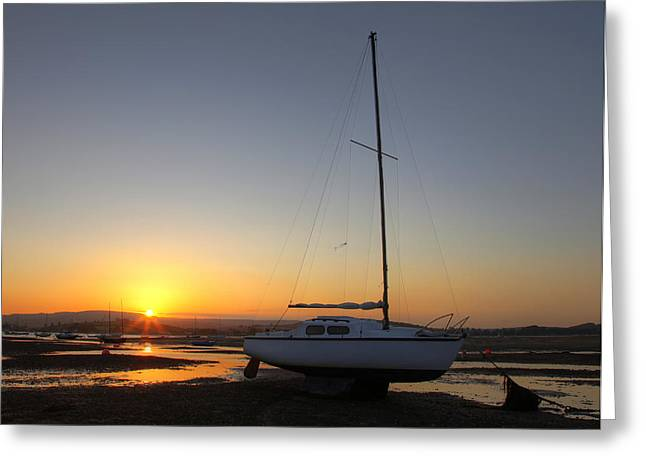 Boats On The River Exe Greeting Card by Ollie Taylor