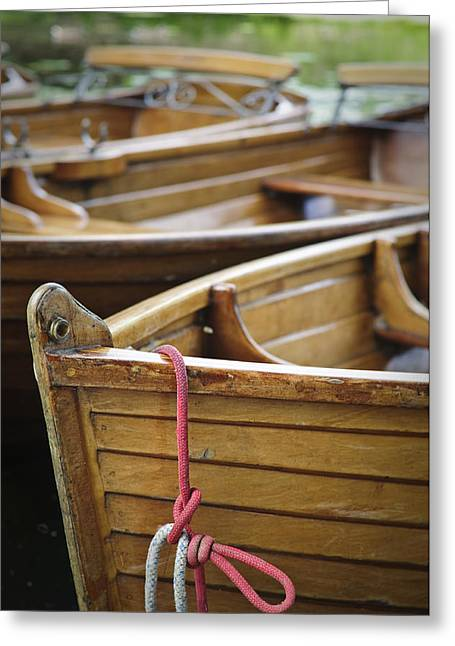 Boats On The River Stour Dedham Vale Uk Greeting Card by Dariusz Gora
