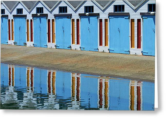 Boatsheds, Clyde Quay Marina Greeting Card by David Wall