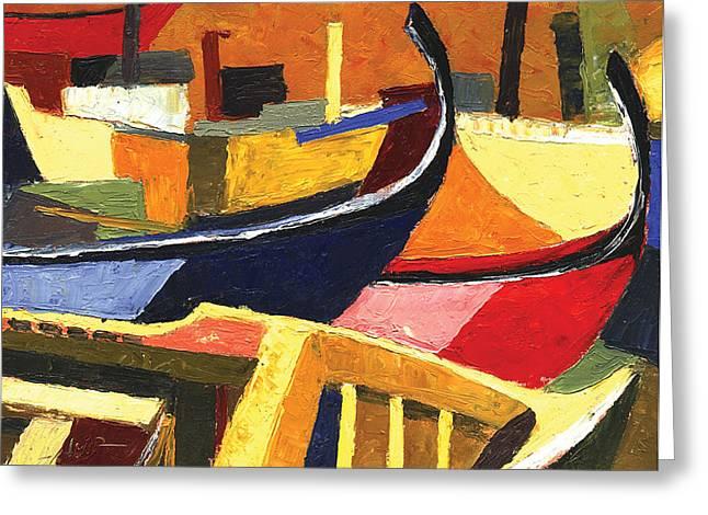 Boatyard Greeting Card by Ahmed Amir