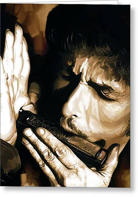 Bob Dylan Artwork 2 Greeting Card by Sheraz A