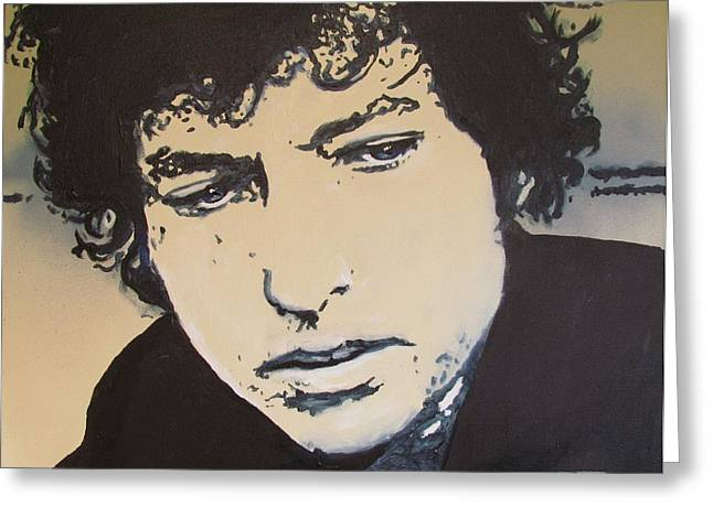 Bob Dylan - It's Alright Ma Greeting Card by Eric Dee