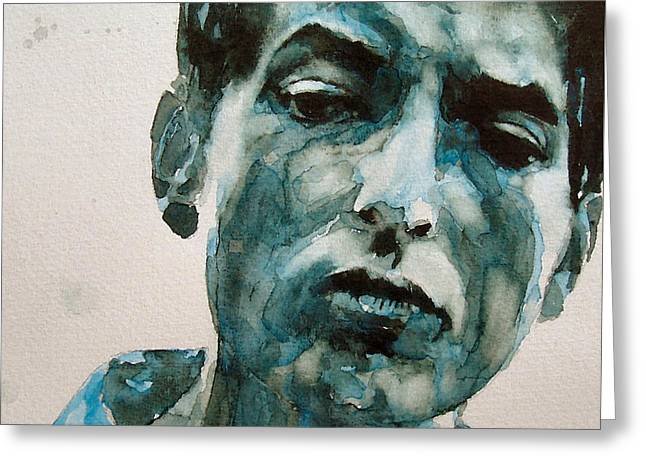 Bob Dylan Greeting Card by Paul Lovering