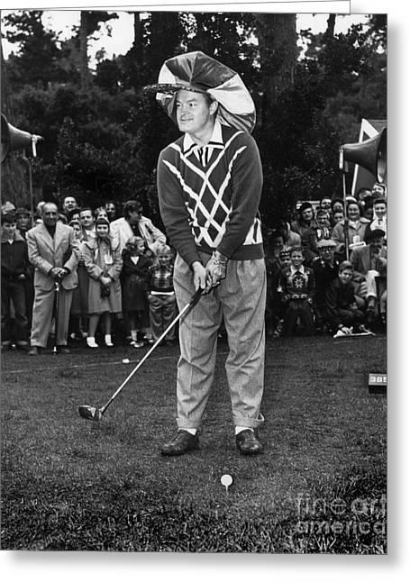 Bob Hope At Bing Crosby National Pro-am Golf Championship  Pebble Beach Circa 1955 Greeting Card