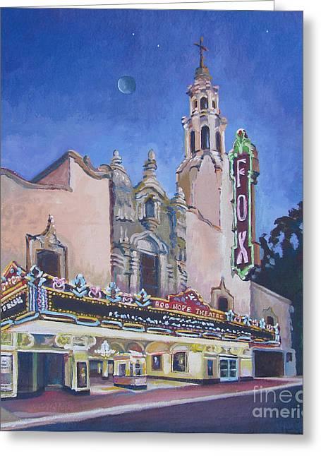 Bob Hope Theatre Greeting Card by Vanessa Hadady BFA MA