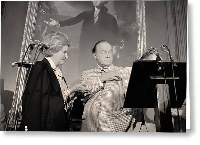 Bob Hope With Wife Delores Receives An Honor In Congress Greeting Card by Mountain Dreams