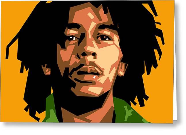 Bob Marley Greeting Card by Douglas Simonson