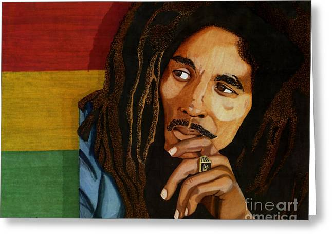 Bob Marley Legend Greeting Card