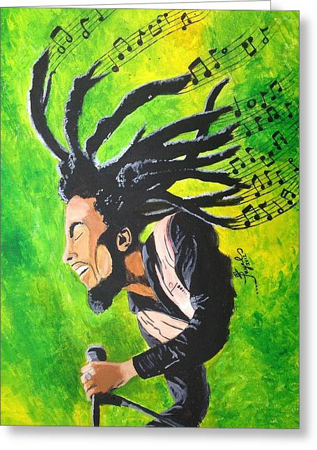 Bob Marley - One With The Music Greeting Card