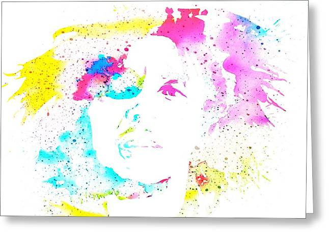 Bob Marley Watercolor Greeting Card by Dan Sproul