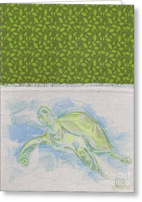Bob The Sea Turtle Greeting Card by Michael Ciccotello