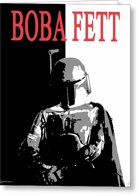 Boba Fett- Gangster Greeting Card