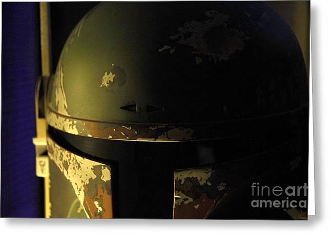 Boba Fett Helmet 136 Greeting Card by Micah May