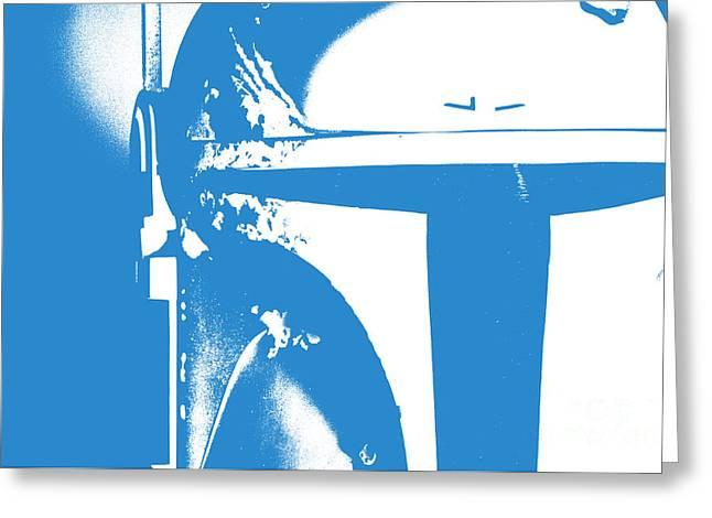 Boba Fett Helmet 3 Greeting Card by Micah May