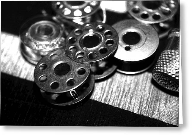 Bobbins 2 Bw Greeting Card