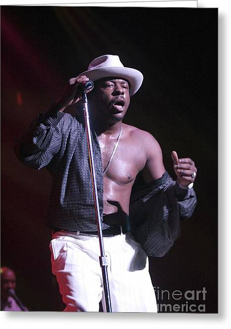 Bobby Brown Greeting Card by Concert Photos
