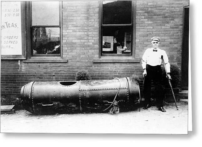 Bobby Leach And His Barrel Greeting Card by Granger