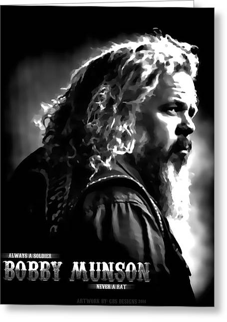 Bobby Munson - Sons Of Anarchy Greeting Card by Anibal Diaz